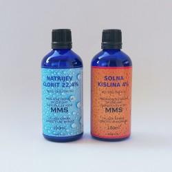 Sestavine za MMS 2x100 ml sa solnom kiselinom